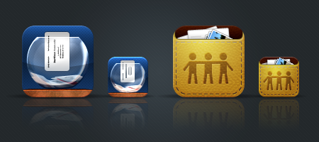 iLeads and iFiles iPhone app icons